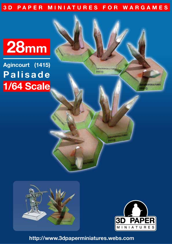 Miniaturas en papél 3d, en 28mm Estacas